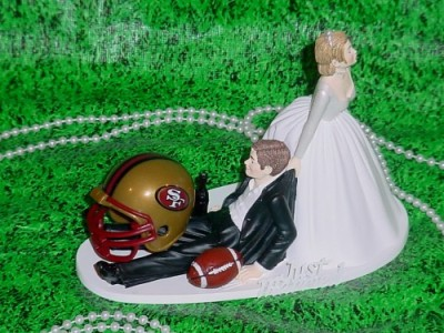 san_francisco_49ers_wedding_caketopper_bride_groom_fun_football_helmet_58976826
