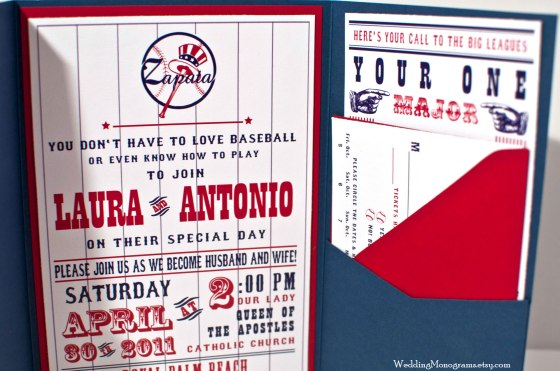 Baseball-themed Wedding Invitation